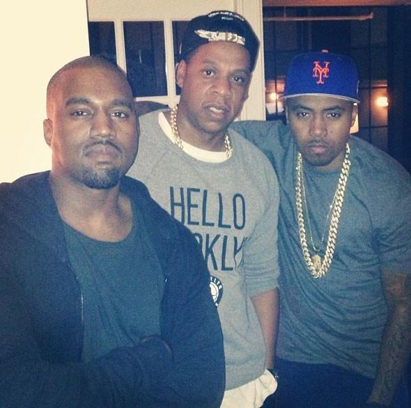 Kanye West avec Jay Z et NAS pour son anniversaire !