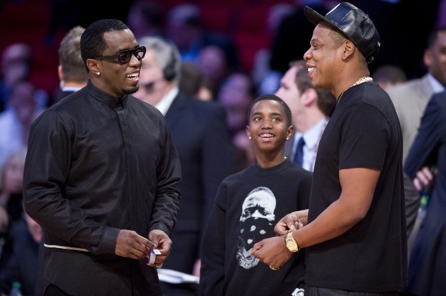 P. Diddy et Jay-Z lors du NBA All-Star Game au Texas, le 17 février 2013.