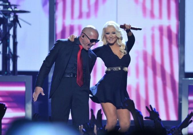 Christina Aguilera sur la scène des Billboard Awards à Las Vegas le 19 mai 2013