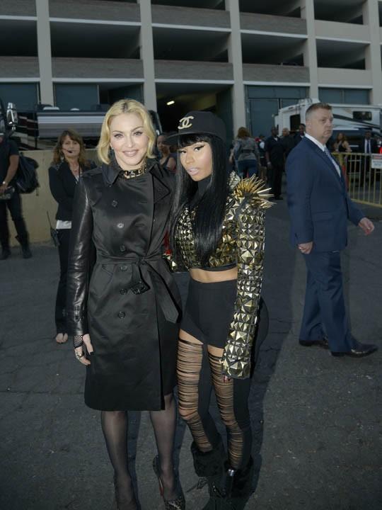 Nicki Minaj avec Madonna lors de la cérémonie des Billboard Music Awards à Las Vegas le 19 mai 2013