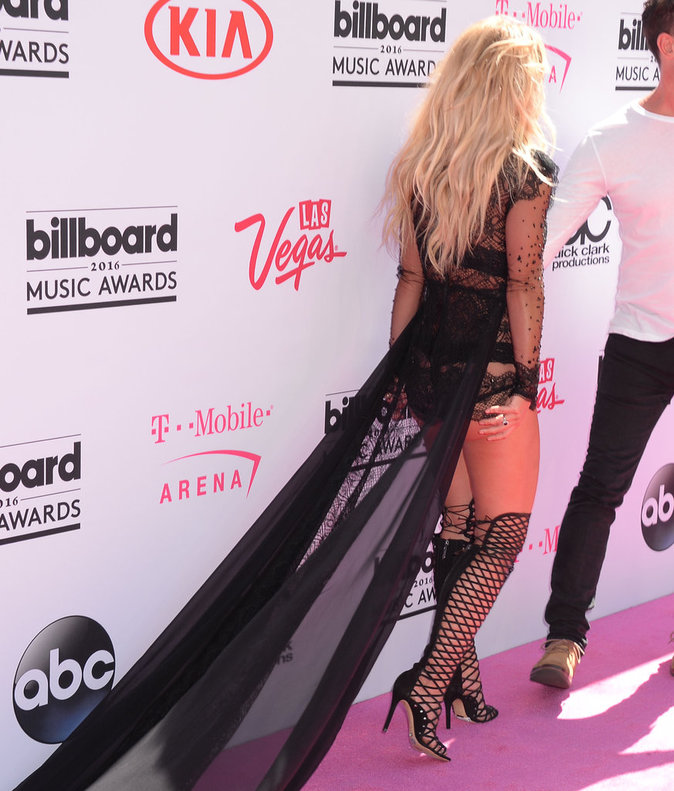Britney Spears sur le tapis rouge des Billboards Music Awards, le 22 mai 2016