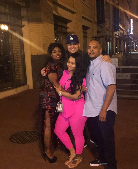 Blac Chyna, ses parents et Rob Kardashian
