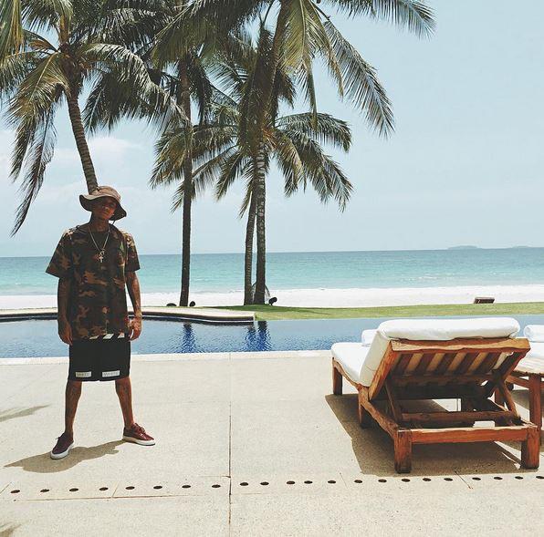 Tyga en vacances au Mexique