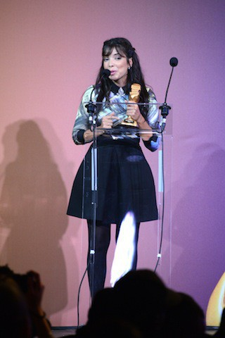 Indila à la soirée Trace Urban Music Awards, à Paris le 22 octobre 2014