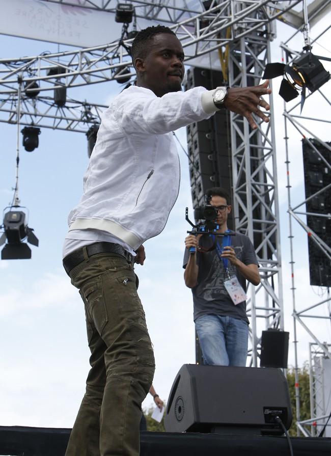 Black M en concert pour la Secours Populaire le 19 août 2015
