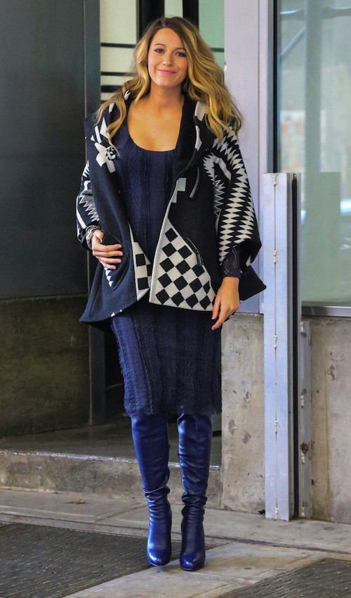 Photos : Blake Lively : baby doll vs winter girl : future maman toujours aussi stylée !