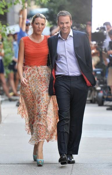 Blake Lively sur le tournage de Gossip Girl à New York, le 17 juillet 2012.