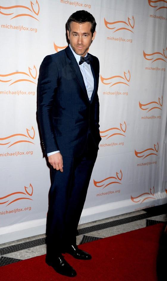 Ryan Reynolds au gala de charité organisé par Michael J. Fox à New-York le 9 novembre 2013