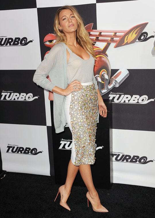 Blake Lively à l'avant-première de Turbo à New-York le 9 juillet 2013