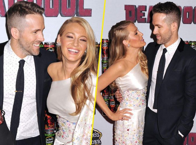 Blake Lively et Ryan Reynolds : complices et amoureux � l'avant-premi�re de Dead Pool