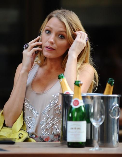 Blake Lively sur le tournage de Gossip Girl à New York, le 2 août 2012.