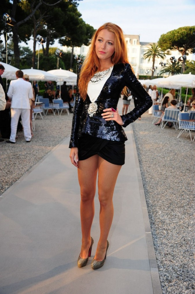Blake Lively lors du défilé Croisière Chanel à Antibes, le 9 mai 2011.