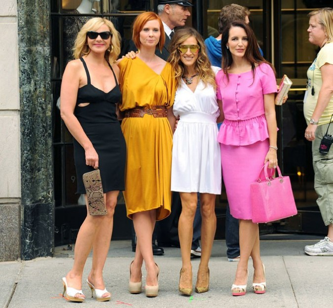 Kim Cattrall, Cynthia Nixon, Sarah Jessica Parker et Kristin Davis, les stars de Sex and The City !
