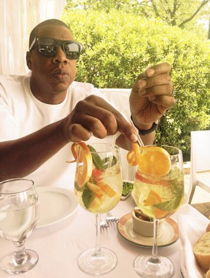 Jay-Z à New York avec sa femme et sa fille
