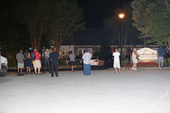 La famille de Bobbi Kristina le 26 juillet 2015