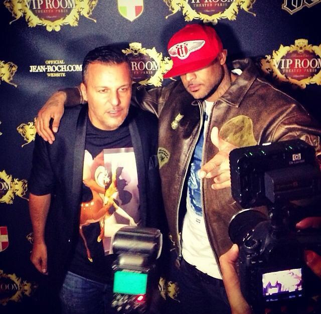 Booba et Jean-Roch au VIP Room Theater à Paris, le 13 novembre 2013.