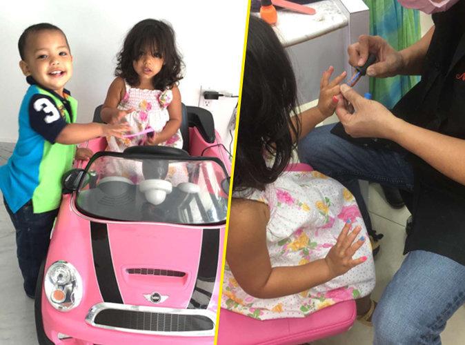 Photos : Booba : sa fille Luna, trois ans et manucurée comme maman !
