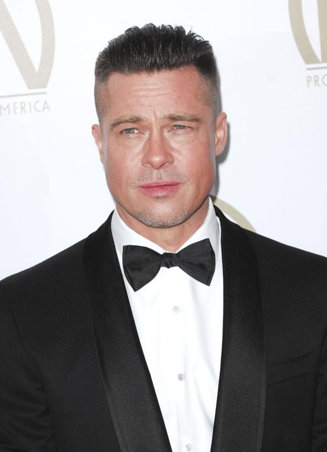Brad Pitt sur le tapis rouge des Producer's Guild Awards organisés à Beverly Hills le 19 janvier 2014