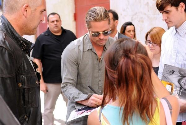 Brad Pitt le 21 juin 2013 à Madrid