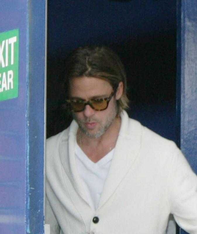 Il faut zoomer pour voir Brad Pitt seul, sinon il est toujours entouré!