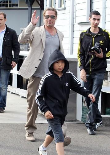 Brad Pitt et Pax, Sydney, 10 juin 2013