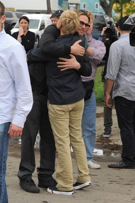 Brad Pitt et Ellen DeGeneres à la Nouvelle-Orléans, le 9 mars 2012.