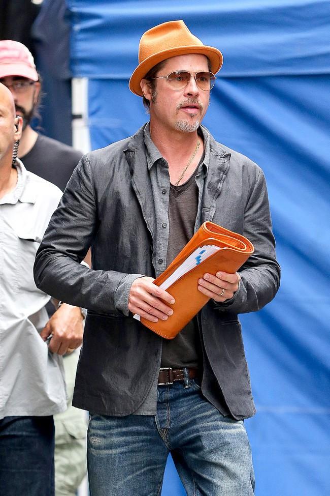 Brad Pitt à New-York le 30 août 2014