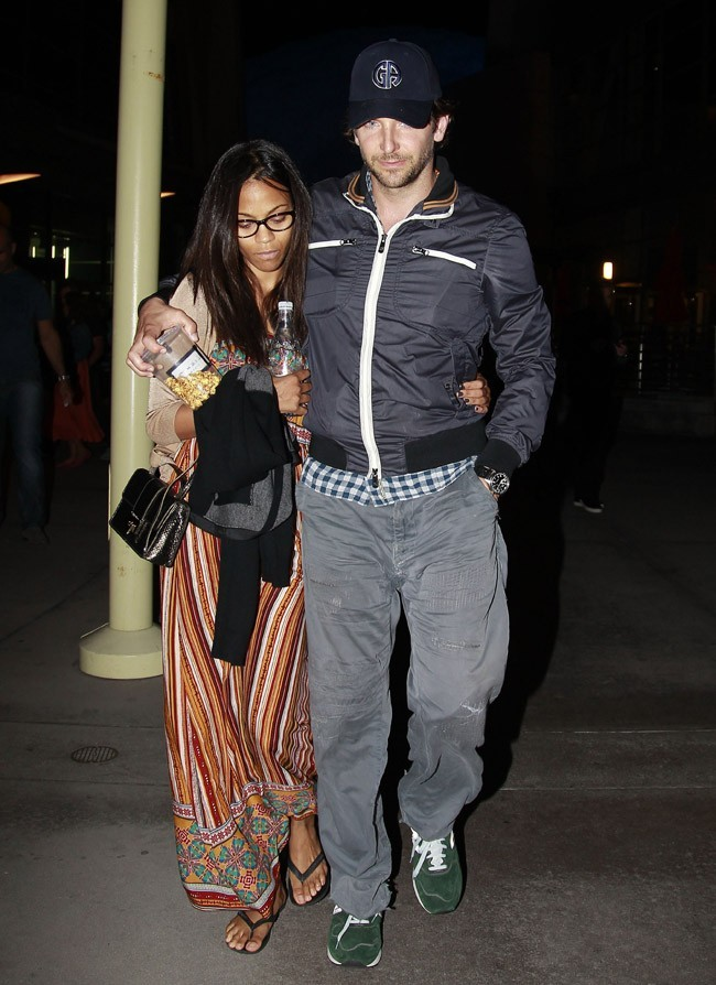 Bradley Cooper et Zoe Saldana le 22 septembre 2012 à West Hollywood