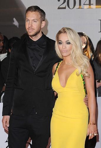 Calvin Harris et Rita Ora à Londres le 19 février 2014