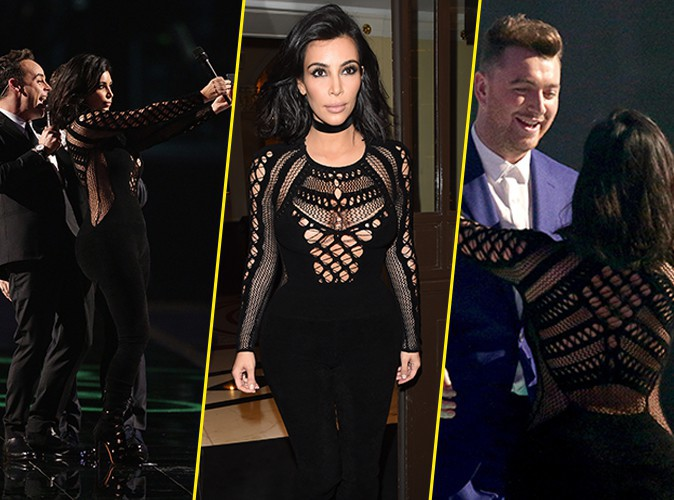 Brit Awards 2015 : Kim Kardashian : selfies sur sc�ne et remise de prix � Sam Smith !