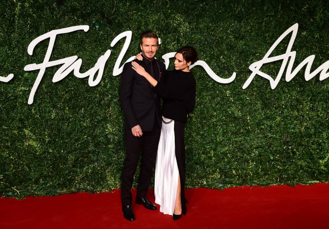 Photos : British Fashion Awards 2014 : amoureuse glam et styliste récompensée, en larmes face à David !