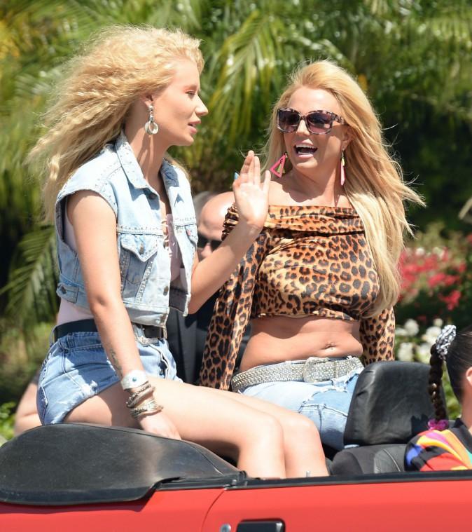 Britney Spears et Iggy Azalea en avril 2015