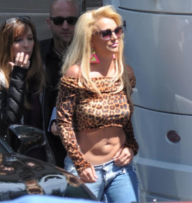 Photos : Britney Spears : ça déborde d'énergie (et pas que) sur le tournage de son clip !