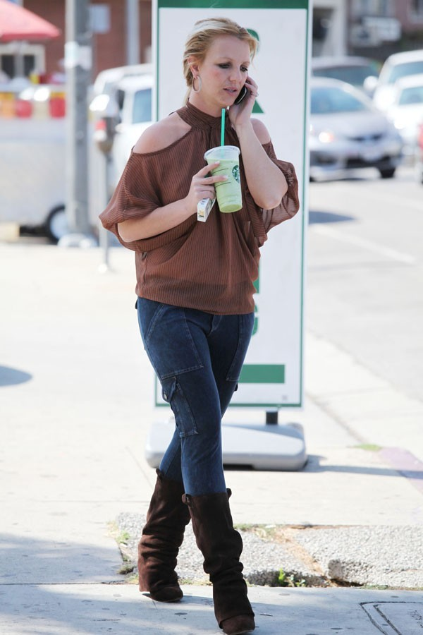 Britney Spears à Los Angeles le 4 octobre 2012