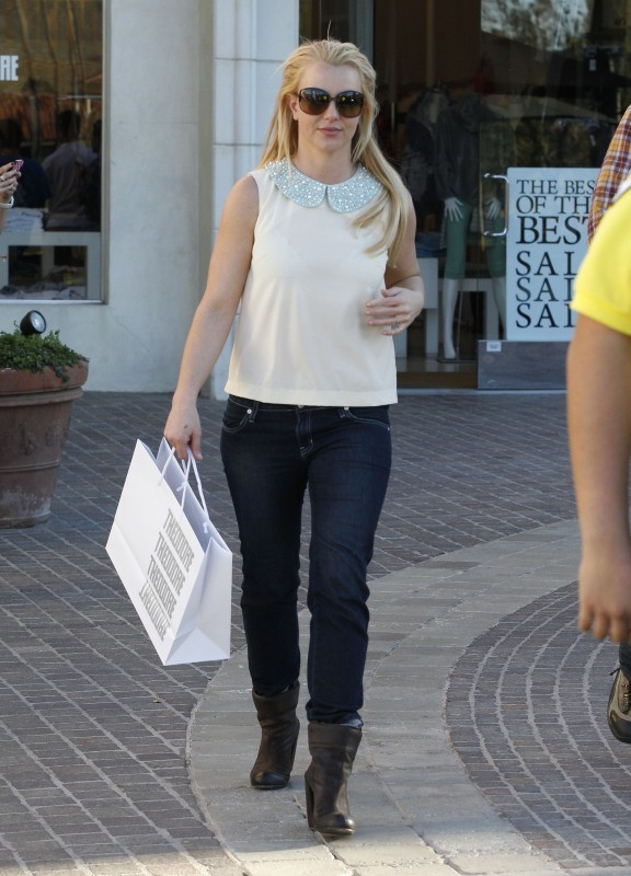 Britney Spears le 21 janvier 2013 à Thousand Oaks en Californie