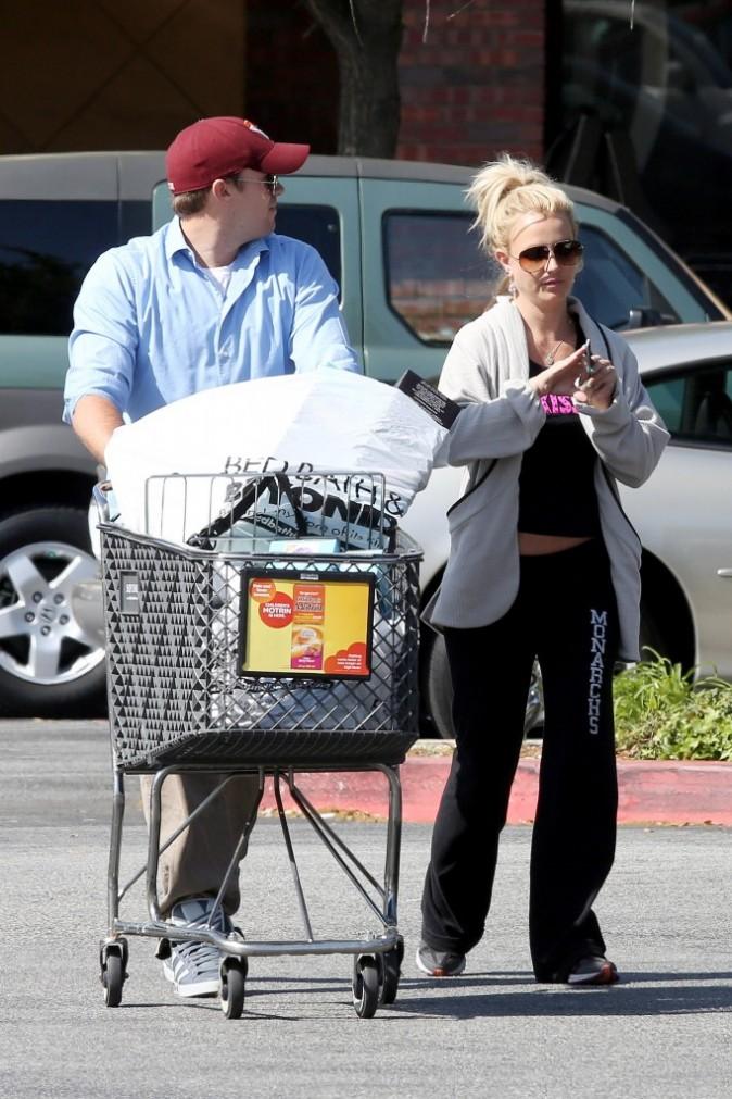 Britney Spears, en jogging pour faire les courses