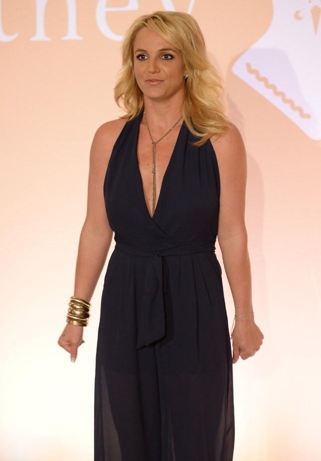 Britney Spears à Londres pour présenter sa marque de lingerie le 23 septembre 2014