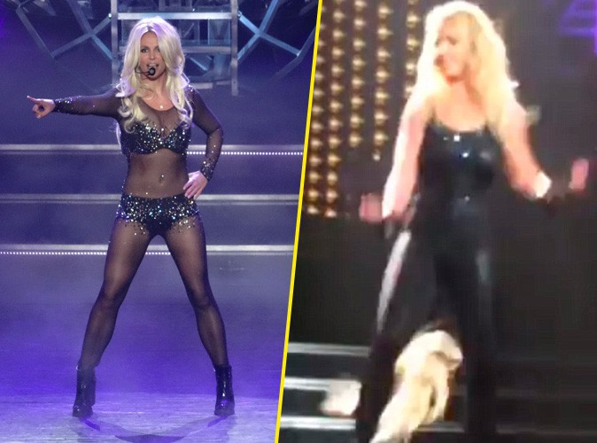 Photos : Britney Spears : Oops... elle perd ses cheveux en plein concert à Las Vegas !
