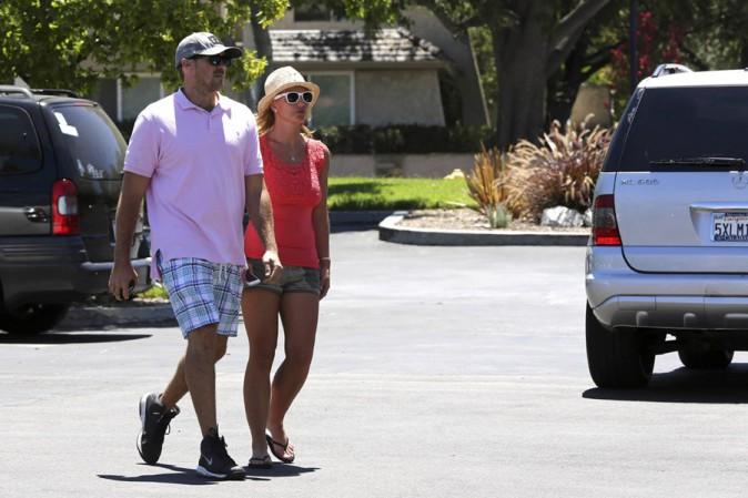 Britney Spears et David Lucado à Los Angeles le 22 juillet 2014