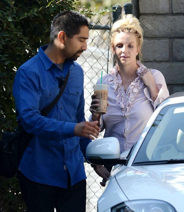 Britney Spears à Thousand Oaks le 24 octobre 2013