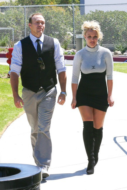 Britney Spears et David Lucato à Los Angeles, le 4 août 2013.