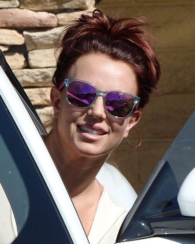 Britney Spears à Westlake Village le 21 février 2014