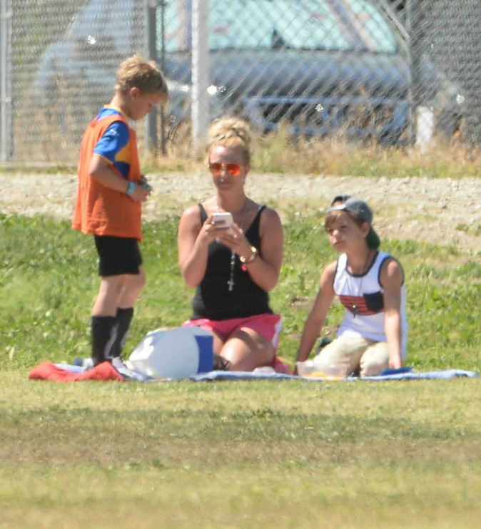 Britney Spears : toujours là pour supporter ses fils !