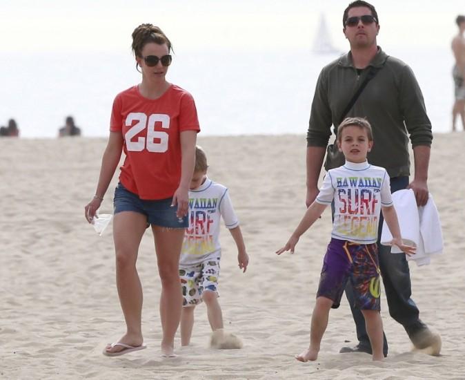 Britney Spears avec Sean Preston et Jayden, Santa Barbara, 2 mars 2013.