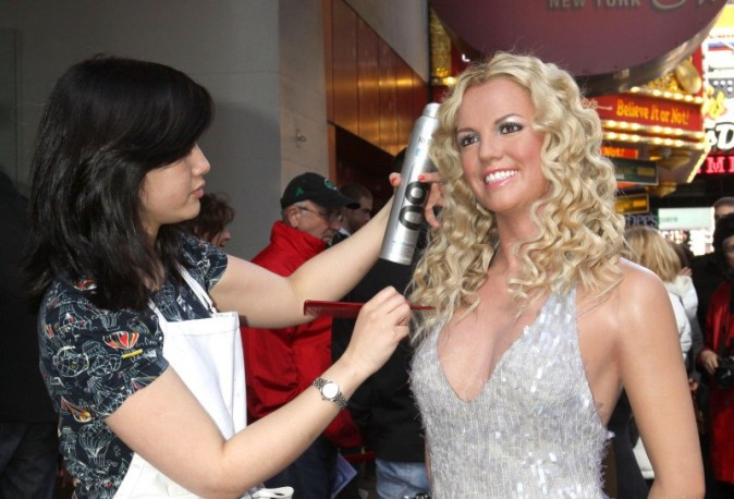 La statue de cire de Britney Spears révélée le 26 mars 2013 à New York