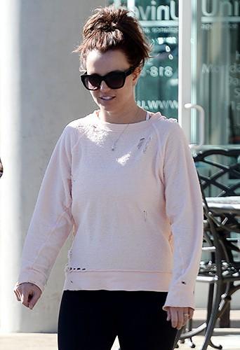 Britney Spears à Los Angeles le 10 février 2014