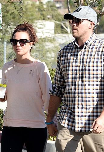 Britney Spears et David Lucado à Los Angeles le 10 février 2014