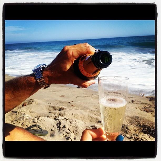 Du champagne pour fêter ça
