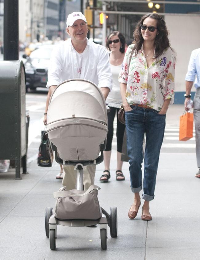 Bruce Willis et Emma Heming à New-York le 22 août 2012