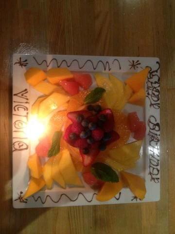 La salade de fruits pour l'anniversaire de Victoria Beckham